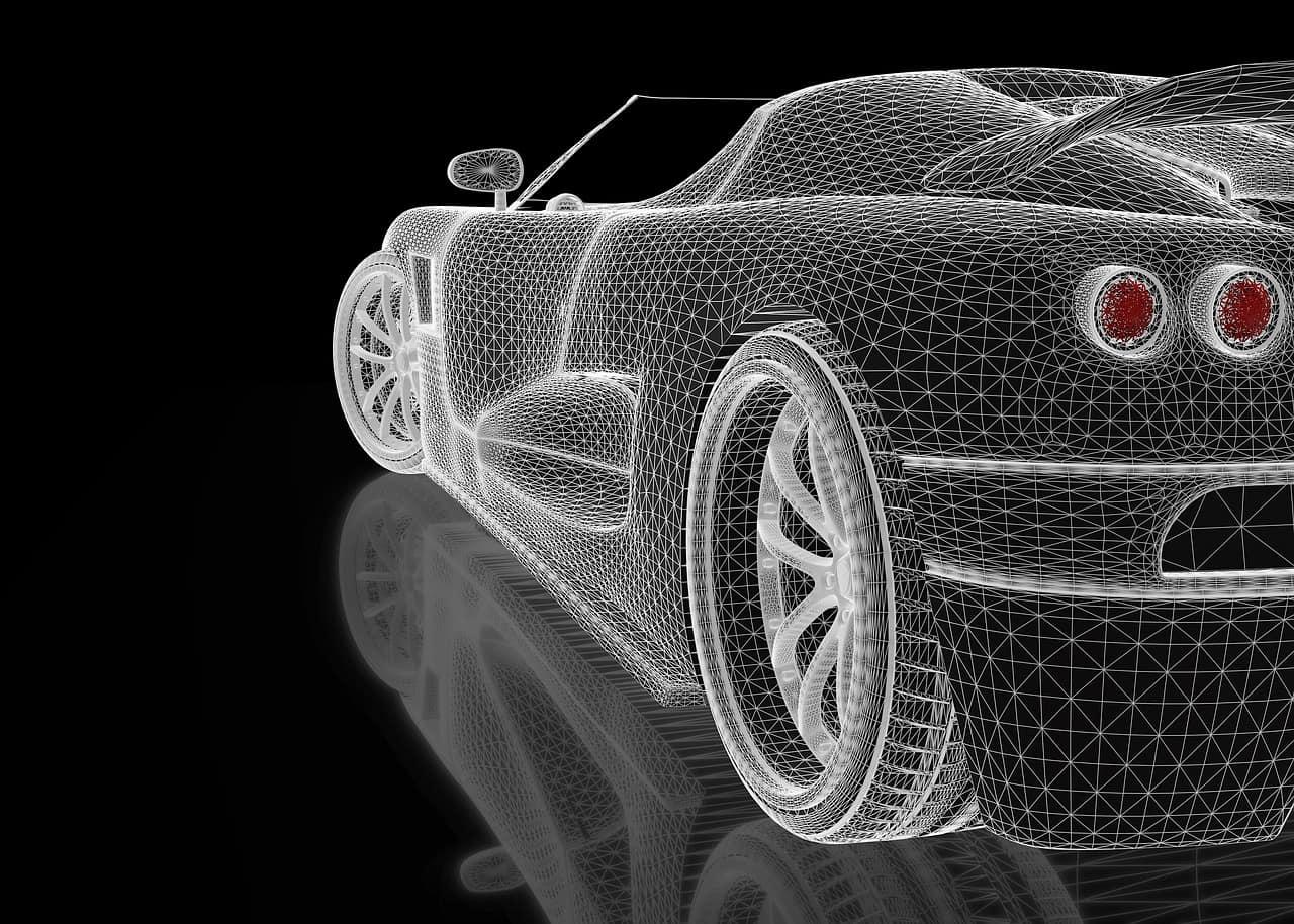 rendering car 3d